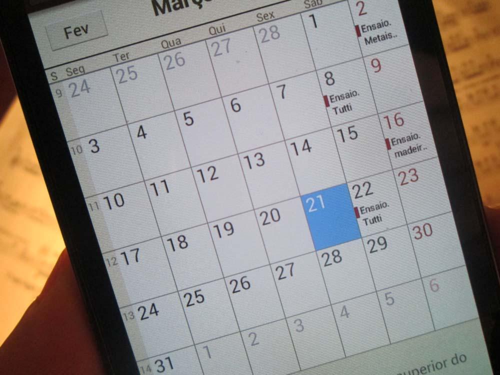 Agenda no Smartphone